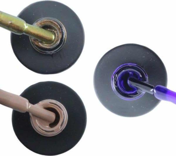 Influence Gellac 3 x 10 ml - CHAMPAGNECATEYE & NAKEDNUDE & PRECIOUSPURPLE - UV / LED Gellak - Gel nagellak - Gel lak - Bruin Nude / Bruin Paars