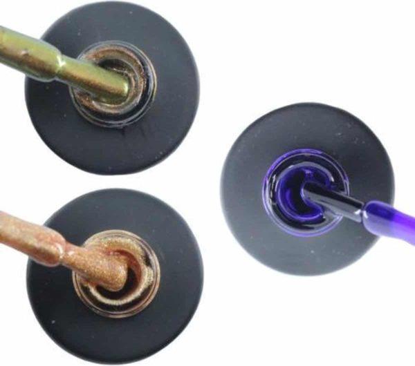Influence Gellac 3 x 10 ml - CHAMPAGNECATEYE & ROSEGOLD & PRECIOUSPURPLE - UV / LED Gellak - Gel nagellak - Gel lak - Bruin Goud Paars
