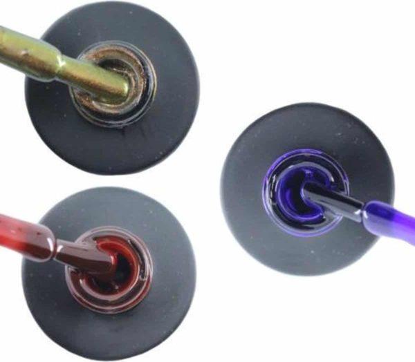 Influence Gellac 3 x 10 ml - CHAMPAGNECATEYE & RUBYRED & PRECIOUSPURPLE - UV / LED Gellak - Gel nagellak - Gel lak - Bruin Rood / Bordeaux / Donkerrood Paars