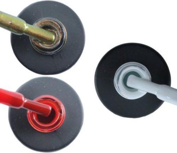 Influence Gellac 3 x 10 ml - CHAMPAGNECATEYE & SASSYRED & SNOWWHITE - UV / LED Gellak - Gel nagellak - Gel lak - Bruin Rood Wit