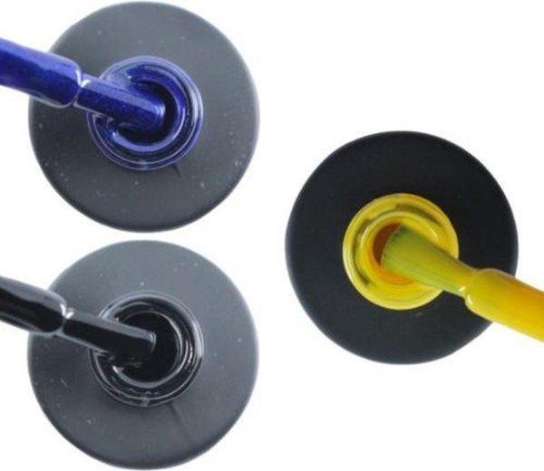 Influence Gellac 3 x 10 ml - DENIMBLUE & BADBLACK & SHINYYELLOW - UV / LED Gellak - Gel nagellak - Gel lak - Blauw Zwart Geel