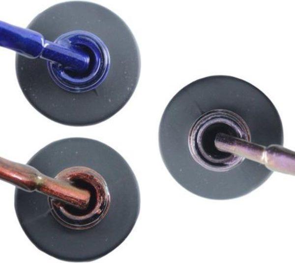 Influence Gellac 3 x 10 ml - DENIMBLUE & ROSECATEYE & VIOLETCATEYE - UV / LED Gellak - Gel nagellak - Gel lak - Blauw Rood / Glitter / Bordeaux Paars / glitter / blauw