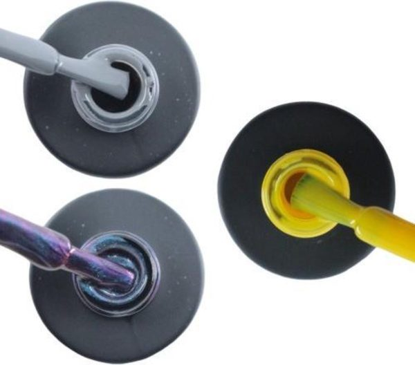 Influence Gellac 3 x 10 ml - GRUMPYGREY & NIGHTCATEYE & SHINYYELLOW - UV / LED Gellak - Gel nagellak - Gel lak - Grijs Blauw / Glitter / Magneet / Groen Geel