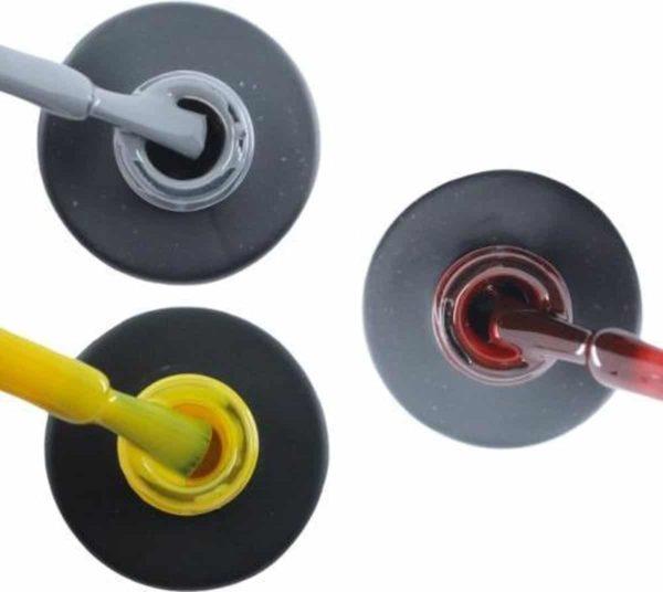 Influence Gellac 3 x 10 ml - GRUMPYGREY & SHINYYELLOW & RUBYRED - UV / LED Gellak - Gel nagellak - Gel lak - Grijs Geel Rood / Bordeaux / Donkerrood