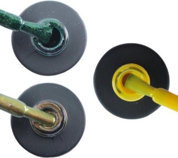 Influence Gellac 3 x 10 ml - GUILTYGREEN & CHAMPAGNECATEYE & SHINYYELLOW - UV / LED Gellak - Gel nagellak - Gel lak - Groen Bruin Geel
