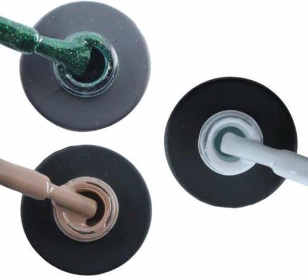 Influence Gellac 3 x 10 ml - GUILTYGREEN & NAKEDNUDE & SNOWWHITE - UV / LED Gellak - Gel nagellak - Gel lak - Groen Nude / Bruin Wit