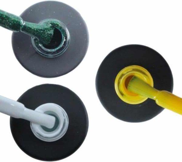 Influence Gellac 3 x 10 ml - GUILTYGREEN & SNOWWHITE & SHINYYELLOW - UV / LED Gellak - Gel nagellak - Gel lak - Groen Wit Geel