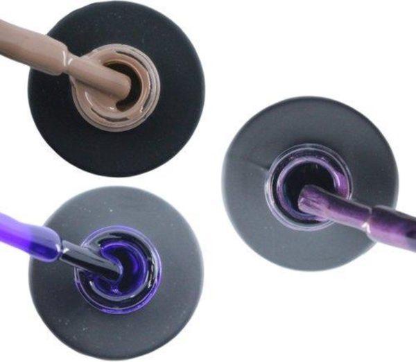 Influence Gellac 3 x 10 ml - NAKEDNUDE & PRECIOUSPURPLE & PASSIONATEPURPLE - UV / LED Gellak - Gel nagellak - Gel lak - Nude / Bruin Paars Paars / Glitter / Lila
