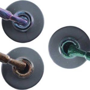 Influence Gellac 3 x 10 ml - NIGHTCATEYE & BRILLIANTBROWN & GUILTYGREEN - UV / LED Gellak - Gel nagellak - Gel lak - Blauw / Glitter / Magneet / Groen Bruin / Glitter Groen
