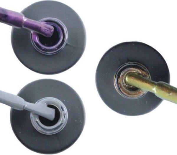 Influence Gellac 3 x 10 ml - PASSIONATEPURPLE & GRUMPYGREY & CHAMPAGNECATEYE - UV / LED Gellak - Gel nagellak - Gel lak - Paars / Glitter / Lila Grijs Bruin