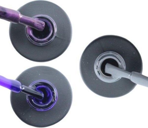 Influence Gellac 3 x 10 ml - PASSIONATEPURPLE & PRECIOUSPURPLE & GRUMPYGREY - UV / LED Gellak - Gel nagellak - Gel lak - Paars / Glitter / Lila Paars Grijs