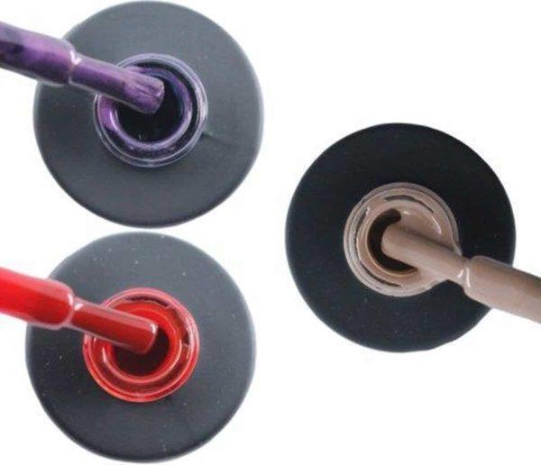 Influence Gellac 3 x 10 ml - PASSIONATEPURPLE & SASSYRED & NAKEDNUDE - UV / LED Gellak - Gel nagellak - Gel lak - Paars / Glitter / Lila Rood Nude / Bruin