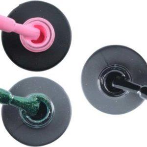 Influence Gellac 3 x 10 ml - PERKYPINK & GUILTYGREEN & BADBLACK - UV / LED Gellak - Gel nagellak - Gel lak - Roze Groen Zwart