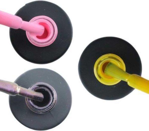 Influence Gellac 3 x 10 ml - PERKYPINK & VIOLETCATEYE & SHINYYELLOW - UV / LED Gellak - Gel nagellak - Gel lak - Roze Paars / glitter / blauw Geel