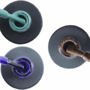 Influence Gellac 3 x 10 ml - PETROLBLUE & PRECIOUSPURPLE & BRILLIANTBROWN - UV / LED Gellak - Gel nagellak - Gel lak - Blauw / Groen Paars Bruin / Glitter
