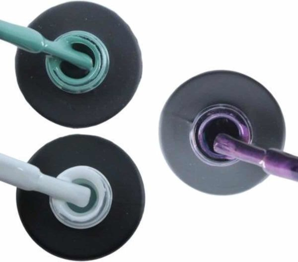Influence Gellac 3 x 10 ml - PETROLBLUE & SNOWWHITE & PASSIONATEPURPLE - UV / LED Gellak - Gel nagellak - Gel lak - Blauw / Groen Wit Paars / Glitter / Lila
