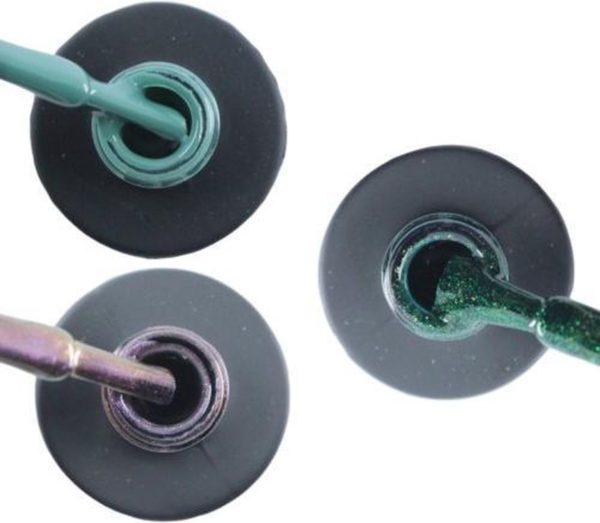 Influence Gellac 3 x 10 ml - PETROLBLUE & VIOLETCATEYE & GUILTYGREEN - UV / LED Gellak - Gel nagellak - Gel lak - Blauw / Groen Paars / glitter / blauw Groen
