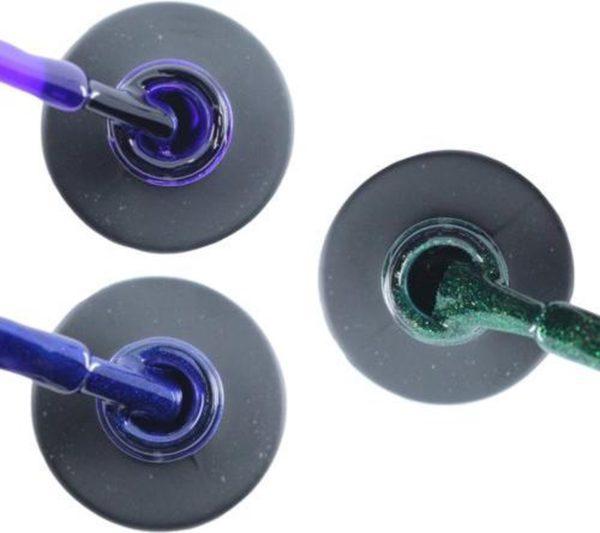 Influence Gellac 3 x 10 ml - PRECIOUSPURPLE & DENIMBLUE & GUILTYGREEN - UV / LED Gellak - Gel nagellak - Gel lak - Paars Blauw Groen