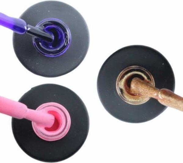 Influence Gellac 3 x 10 ml - PRECIOUSPURPLE & PERKYPINK & ROSEGOLD - UV / LED Gellak - Gel nagellak - Gel lak - Paars Roze Goud