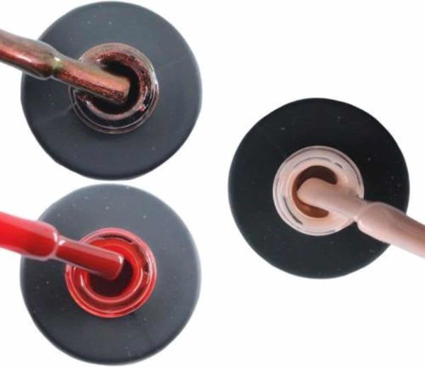 Influence Gellac 3 x 10 ml - ROSECATEYE & SASSYRED & PRETTYPINK - UV / LED Gellak - Gel nagellak - Gel lak - Rood / Glitter / Bordeaux Rood Roze / Nude