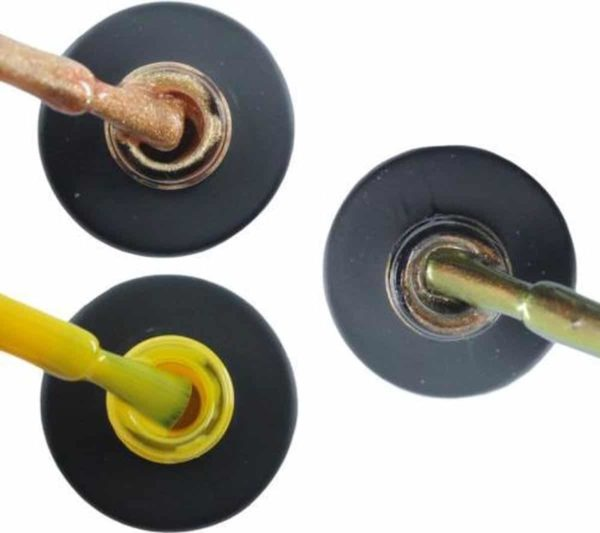 Influence Gellac 3 x 10 ml - ROSEGOLD & SHINYYELLOW & CHAMPAGNECATEYE - UV / LED Gellak - Gel nagellak - Gel lak - Goud Geel Bruin