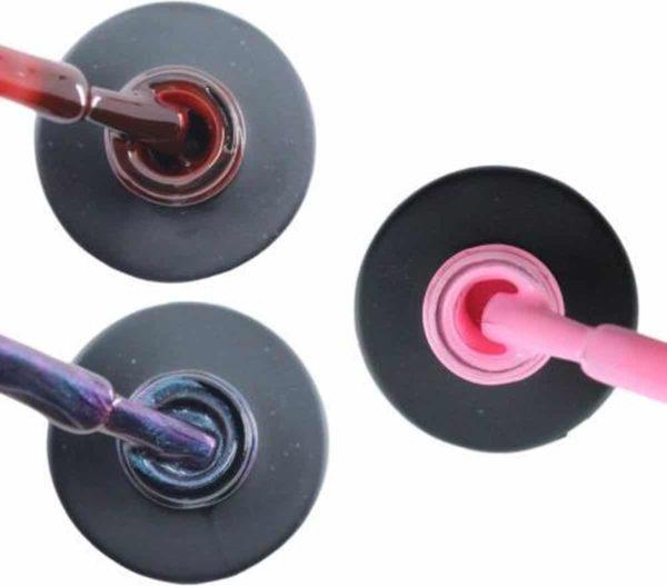Influence Gellac 3 x 10 ml - RUBYRED & NIGHTCATEYE & PERKYPINK - UV / LED Gellak - Gel nagellak - Gel lak - Rood / Bordeaux / Donkerrood Blauw / Glitter / Magneet / Groen Roze