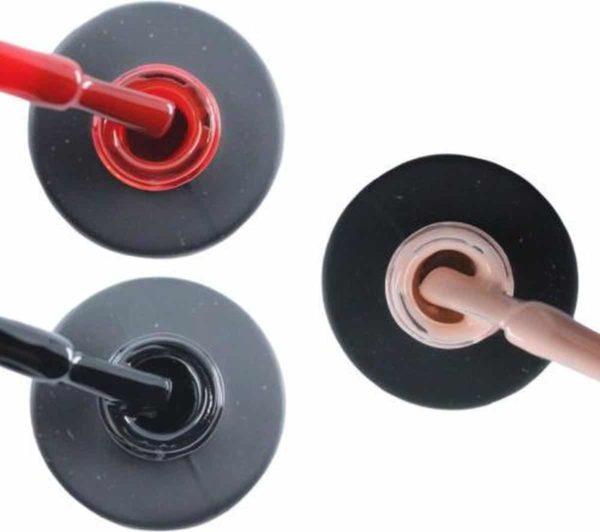 Influence Gellac 3 x 10 ml - SASSYRED & BADBLACK & PRETTYPINK - UV / LED Gellak - Gel nagellak - Gel lak - Rood Zwart Roze / Nude