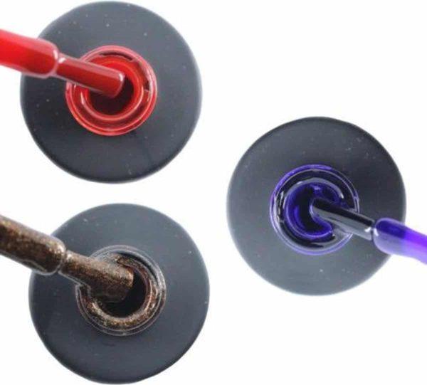 Influence Gellac 3 x 10 ml - SASSYRED & BRILLIANTBROWN & PRECIOUSPURPLE - UV / LED Gellak - Gel nagellak - Gel lak - Rood Bruin / Glitter Paars