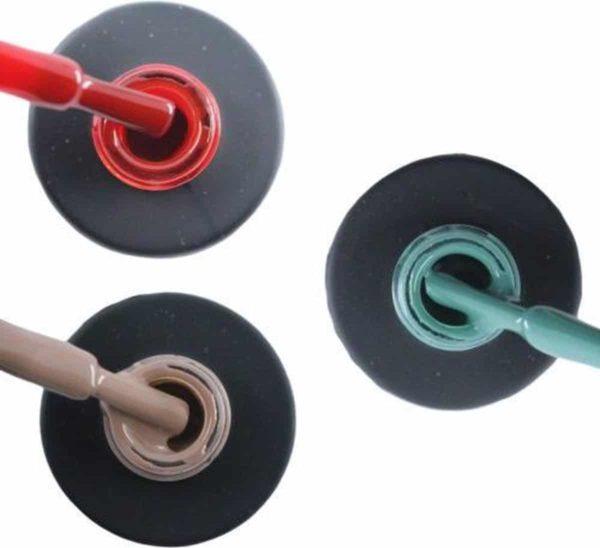 Influence Gellac 3 x 10 ml - SASSYRED & NAKEDNUDE & PETROLBLUE - UV / LED Gellak - Gel nagellak - Gel lak - Rood Nude / Bruin Blauw / Groen