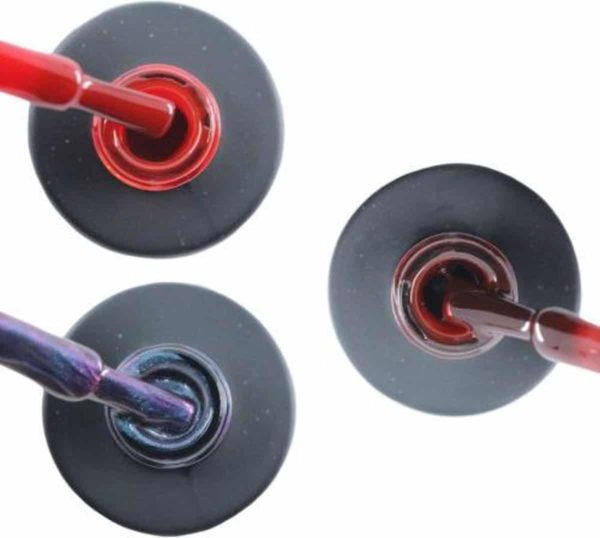 Influence Gellac 3 x 10 ml - SASSYRED & NIGHTCATEYE & RUBYRED - UV / LED Gellak - Gel nagellak - Gel lak - Rood Blauw / Glitter / Magneet / Groen Rood / Bordeaux / Donkerrood