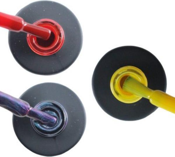 Influence Gellac 3 x 10 ml - SASSYRED & NIGHTCATEYE & SHINYYELLOW - UV / LED Gellak - Gel nagellak - Gel lak - Rood Blauw / Glitter / Magneet / Groen Geel