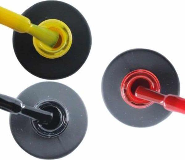 Influence Gellac 3 x 10 ml - SHINYYELLOW & BADBLACK & SASSYRED - UV / LED Gellak - Gel nagellak - Gel lak - Geel Zwart Rood