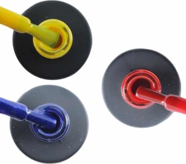 Influence Gellac 3 x 10 ml - SHINYYELLOW & DENIMBLUE & SASSYRED - UV / LED Gellak - Gel nagellak - Gel lak - Geel Blauw Rood