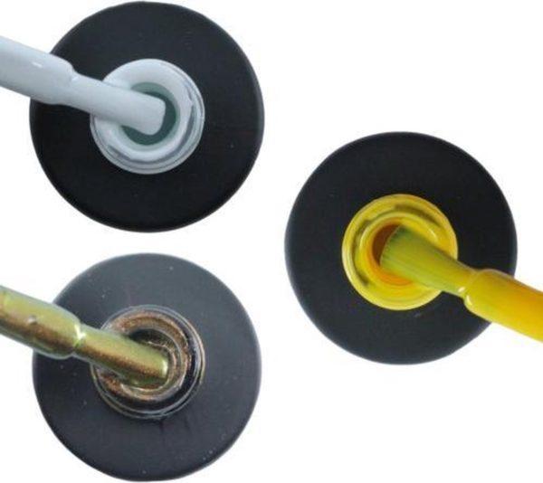 Influence Gellac 3 x 10 ml - SNOWWHITE & CHAMPAGNECATEYE & SHINYYELLOW - UV / LED Gellak - Gel nagellak - Gel lak - Wit Bruin Geel