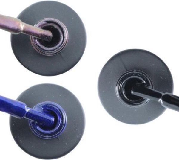 Influence Gellac 3 x 10 ml - VIOLETCATEYE & DENIMBLUE & BADBLACK - UV / LED Gellak - Gel nagellak - Gel lak - Paars / glitter / blauw Blauw Zwart