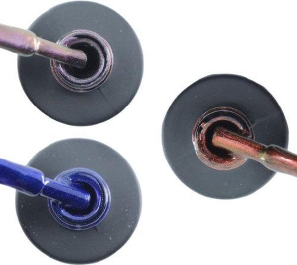 Influence Gellac 3 x 10 ml - VIOLETCATEYE & DENIMBLUE & ROSECATEYE - UV / LED Gellak - Gel nagellak - Gel lak - Paars / glitter / blauw Blauw Rood / Glitter / Bordeaux
