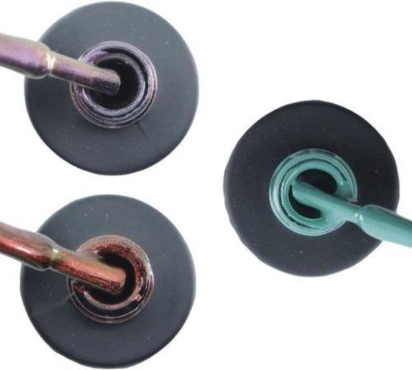 Influence Gellac 3 x 10 ml - VIOLETCATEYE & ROSECATEYE & PETROLBLUE - UV / LED Gellak - Gel nagellak - Gel lak - Paars / glitter / blauw Rood / Glitter / Bordeaux Blauw / Groen