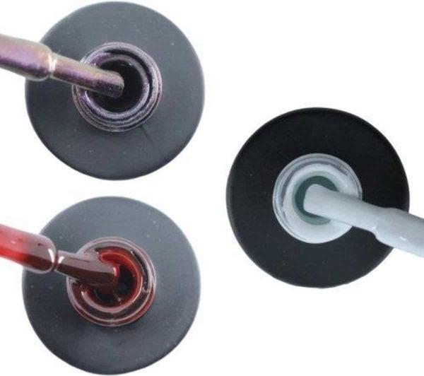 Influence Gellac 3 x 10 ml - VIOLETCATEYE & RUBYRED & SNOWWHITE - UV / LED Gellak - Gel nagellak - Gel lak - Paars / glitter / blauw Rood / Bordeaux / Donkerrood Wit
