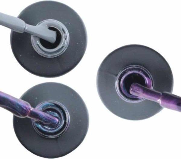 Influence Gellac #CALMSERIE - UV / LED Gellak - Gel nagellak - Gel lak - Grijs / Blauw / Glitter / Magneet / Groen Paars / Lila - Startersset - 3 x 10 ml