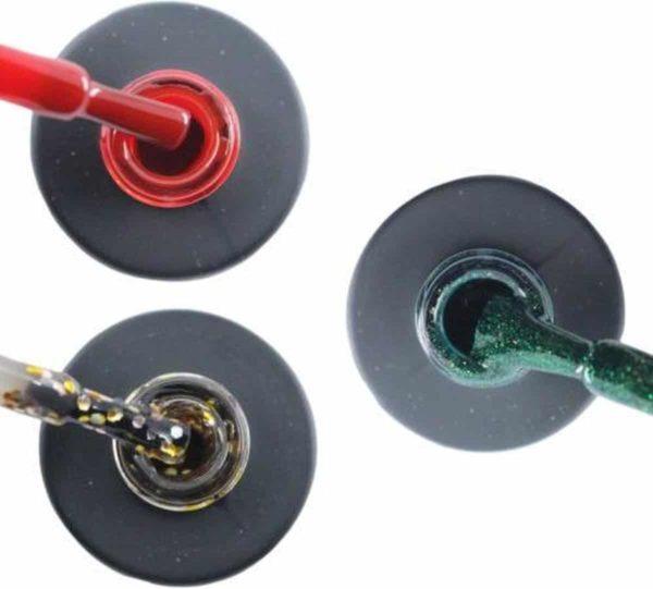 Influence Gellac #DECEMBERSERIE - UV / LED Gellak - Gel nagellak - Gel lak - Rood / Goud / Zilver / Glitter / Groen - Startersset - 3 x 10 ml