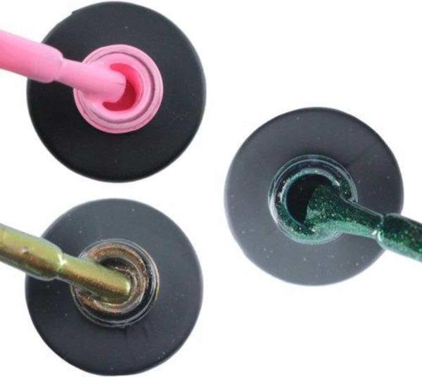 Influence Gellac #JEANSERIE - UV / LED Gellak - Gel nagellak - Gel lak - Roze / Bruin / Groen - Startersset - 3 x 10 ml