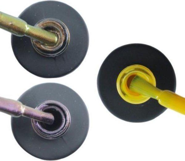 Influence Gellac #JOANSERIE- UV / LED Gellak - Gel nagellak - Gel lak - Bruin / Paars / Glitter / Blauw / Geel - Startersset - 3 x 10 ml