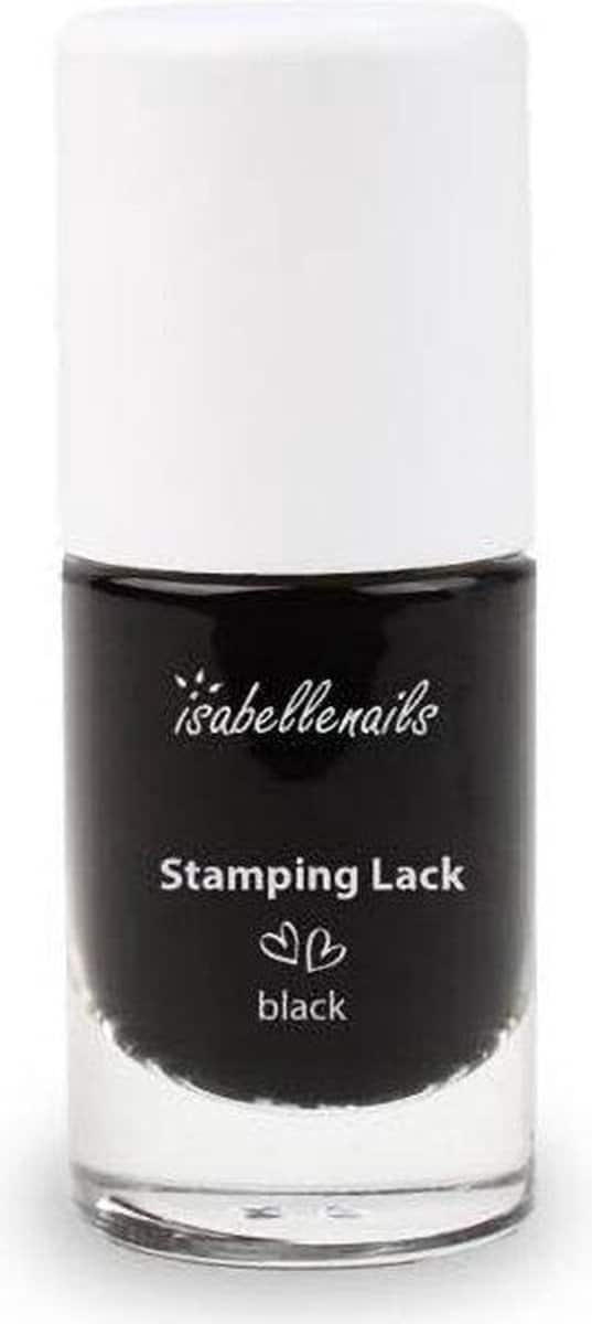 Isabelle Nails Stempel Lak Zwart 6ml.