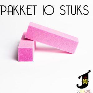J Belgique Buffer Blok Nagelvijl Set 10x Roos| Nagel Bufferblok| Manicure | Nagelvijlen Voor Gelnagels En Acrylnagels