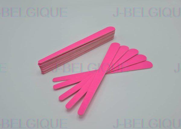 J Belgique Roze Houten nagelvijlen | 180 Grit Met Houten Kern | 20 Stuks | Voor Gewone En Gel / Acrylnagels