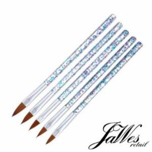 Jawes- Acrylpenselen- 5 stuks - Acrylnagels- Arcyl Penselen- Acryl- Nagels- Polygel- Nagellak- Gelnagels- Gereedschap- Nagelstyliste- Gellak- Nagelgereedschap