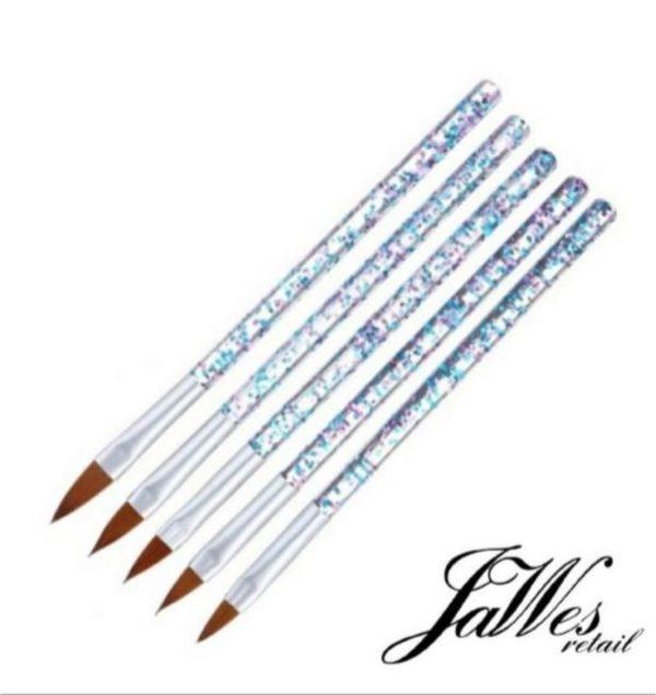 Jawes- Acrylpenselen- 5 stuks - Acrylnagels- Penselen- Acryl- Nagels- Polygel- Nagellak- Gelnagels- Gereedschap- Nagelstyliste- Gellak- Nagelgereedschap