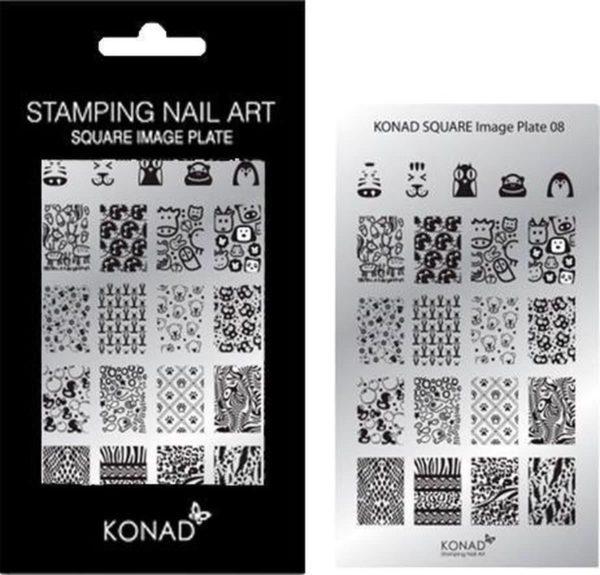 KONAD Square stempel sjablonen plaat 08 - Dieren & Dierenprint