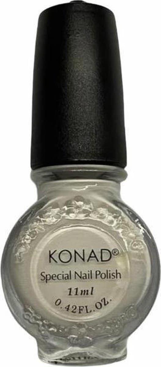 KONAD Stempellak/Nail Art/Wit/11 ML