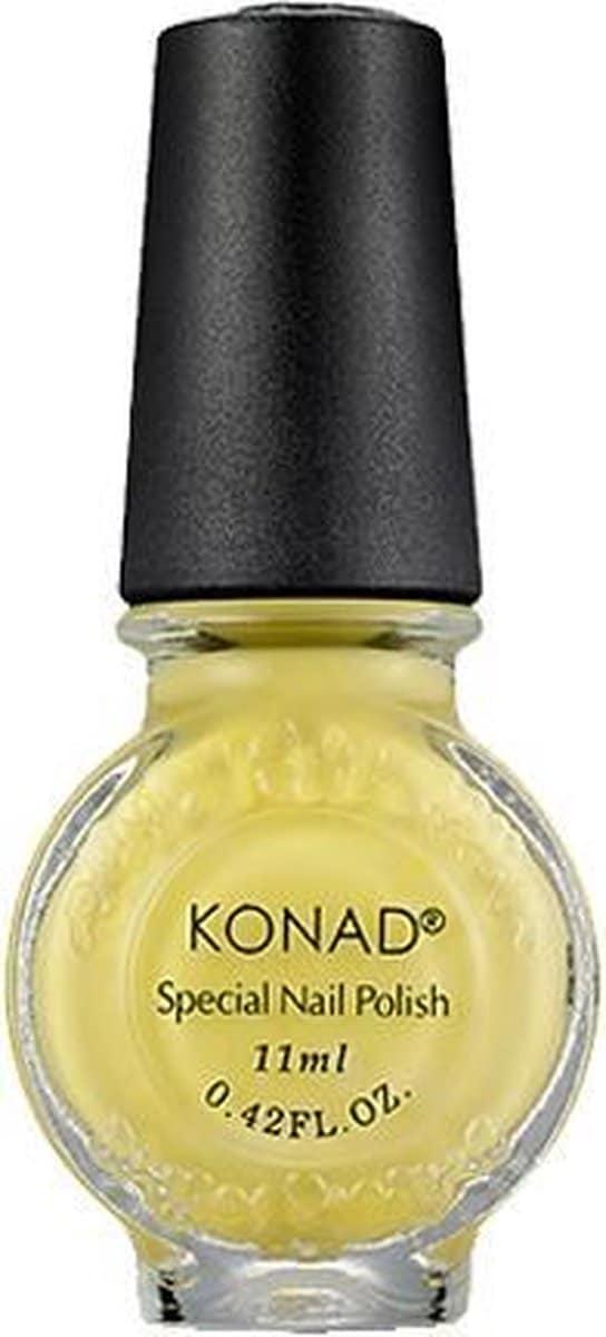 KONAD nagellak voor stempel PASTEL GEEL / PASTEL YELLOW 05, 11 ml. Mooie kleur stempellak in een pastel tint voor romantische na